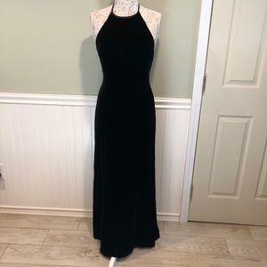 Jones New York Evening, Halter Gown- Black Velvet